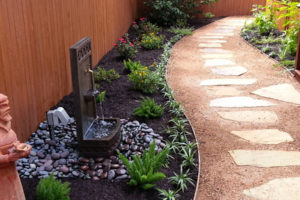 Custom sand and stone pathway and landscaping project in Boerne, TX