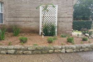 stone retaining walls and landscape project