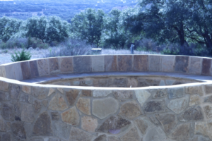 Custom stone fire pit project