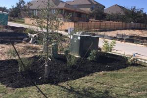 Landscape project in San Antonio Texas