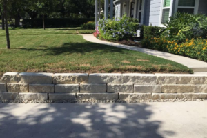 retaining wall and landscape project