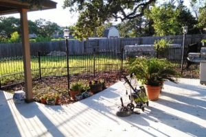 Iron fence installation project