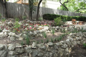 multi level retaining wall project in Boerne, TX