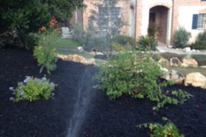 New sprinkler system and landscaping project in San Antonio Texas