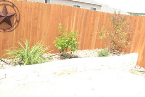 residential fencing and stone retaining wall boerne tx