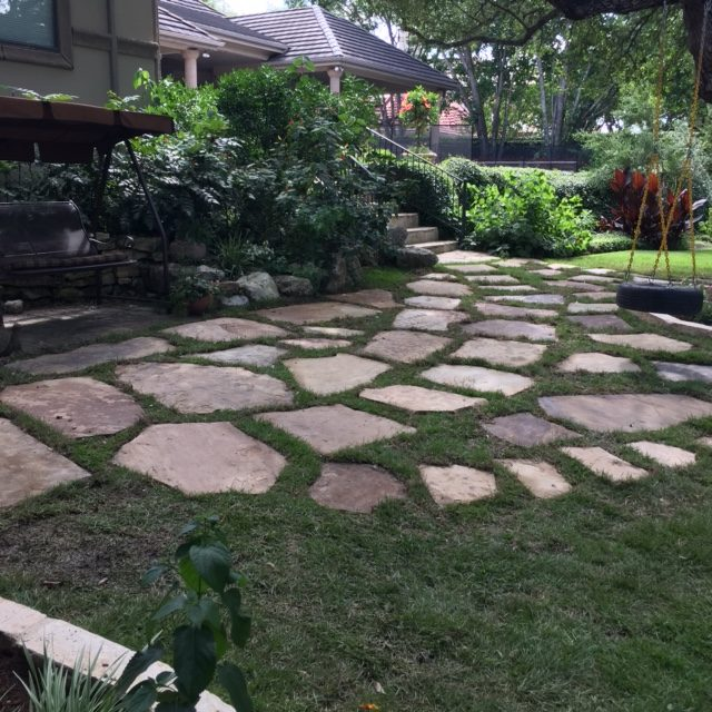 Landscape and stone pathway project
