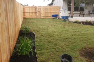 new fence and sod installation