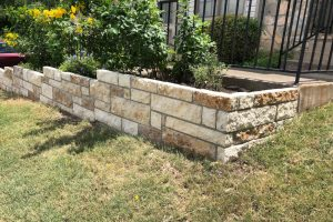 Retaining wall planter project