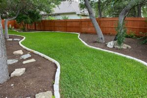 Yard with beautiful landscaping